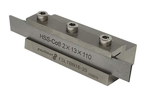 PAULIMOT Abstechstahlhalter, Schafthöhe 16 mm, mit HSS-Messer (8% Kobalt)