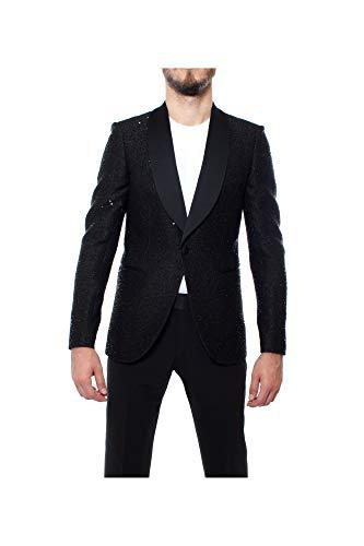 Emporio Armani Giacca Smoking Paillettes Nero da Uomo Elegante