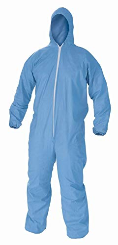 DuPont TY122S Disposable Elastic Wrist, Bootie & Hood White Tyvek Coverall Suit 1414, Size Large, Sold by the Each Model: TY122S-L-EACH