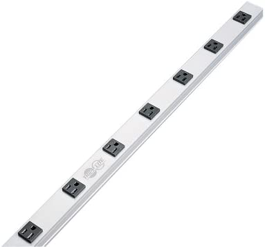 Tripp Lite 8 Outlet Bench & Cabinet Power Strip, 24 in. Length, 15ft Cord with 5-15P Plug, (PS2408) Black