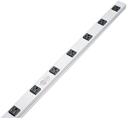 $40 » Tripp Lite 8 Outlet Bench & Cabinet Power Strip, 24 in. Length, 15ft Cord with 5-15P Plug (PS2408)