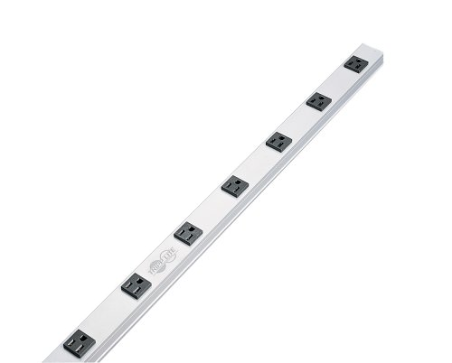 Tripp Lite 8 Outlet Bench & Cabinet Power Strip, 24 in. Length, 15ft Cord with 5-15P Plug, (PS2408)