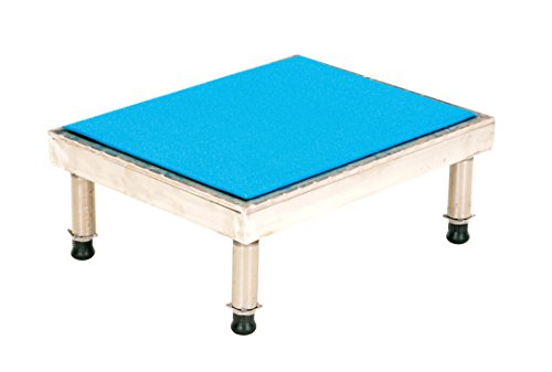 Vestil Adjustable Ergo-Mat Work Mate Stand - 24in.W x 19in.D, 500-Lb. Capacity, Aluminum, Model Number AHT-H-1924-A