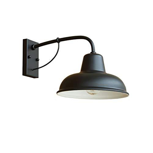 Aplique de pared Simple lámpara de la lámpara de pared de la puerta de entrada lámpara de pared retro retro al aire libre Hierro forjado Nostálgico Americana exterior lámpara de la puerta de la puerta