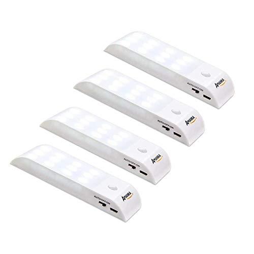 LED-Nachtlicht, AMANKA (4 Pack) LED Bewegungsmelder,USB Rechargeable für Schrank Kinderzimmer Flur Schlafzimmer Küche Garderobe Garage