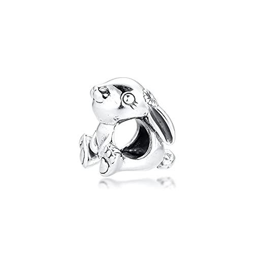 Pandora S925 colgante de joyería de plata esterlina encantos para pulseras collares joyería de plata esterlina cuentas de conejo envío gratis