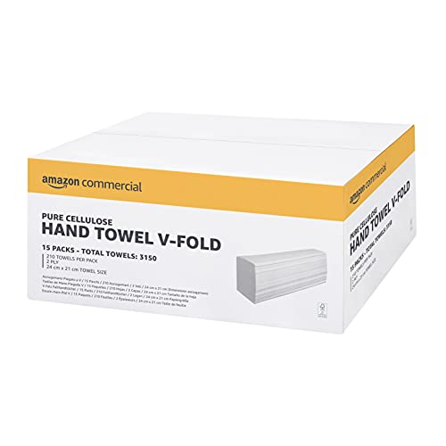 AmazonCommercial Interfold-Vfold Paper Hand Towels, 2 PLY - Pack of 15,...