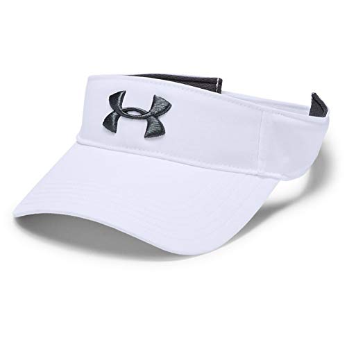 Under Armour Core Golf Visor, Berretta Uomo, Bianco, OSFA