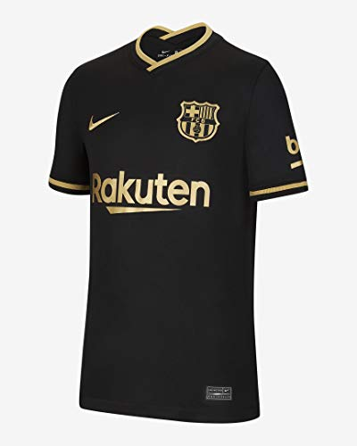 Nike Kinder FC Barcelona Stadium Away Trikot, Black/Metallic Gold, S