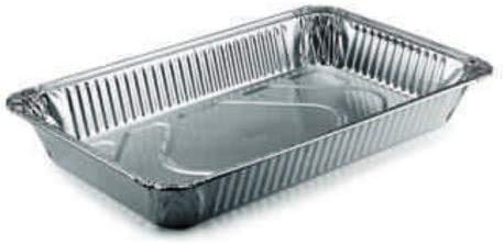 2 bandejas de aluminio de 8 porciones para pasta al horno, lasañas, fritos y canelones, bandeja de 5 cm de altura y 32 x 27 cm de altura.