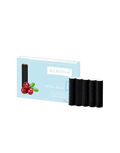 AINOHA® AllStar Black Capsules Aura - Nachfüllkapseln AINOHA® AllStar | 5 Kapseln | Nikotinfrei Schadstofffrei | 100% organisch gewonnenes Aroma Made in Germany