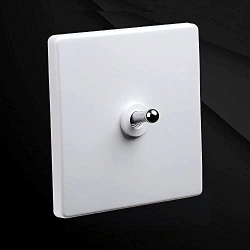 KDLAKE Interruptor de palanca retro 86 tipo Silver Home 86 tipo palanca de interruptor retro 1-4 Gang Interruptor de luz de pared de personalidad de 2 vías,1 pandilla