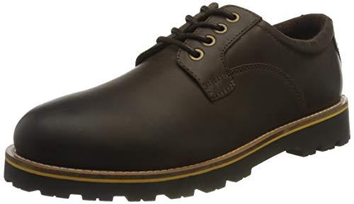 camel active Herren Copper Sneaker, Dark Brown, 42 EU