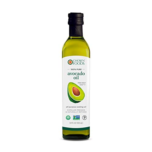 Chosen Foods 100% Pure Avocado Oil 8.4 oz., Non-GMO, for High-Heat Cooking, Frying, Baking, Homemade Sauces, Dressings and Marinades