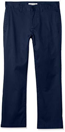 Amazon Essentials Straight Leg Flat Front Uniform Chino Pant Pants, Azul marino, 8(H)