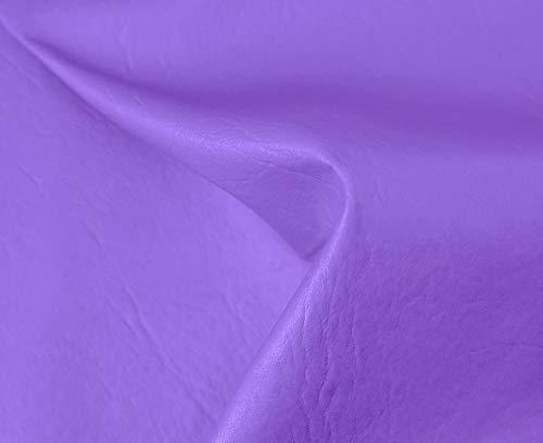 HAPPERS 0,50 Metros de Polipiel para tapizar, Manualidades, Cojines o forrar Objetos. Venta de Polipiel por Metros. Diseño Sugan Color Lila Ancho 140cm