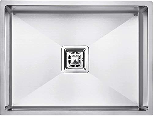 CROCODILE 304 Stainless Steel Single Bowl Handmade Kitchen Sink (24x18x10 inches)