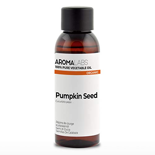 100% Organic cold pressed Pumpkin Seed oil - 50ml - Pure, Natural, from organic farming - Aroma Labs