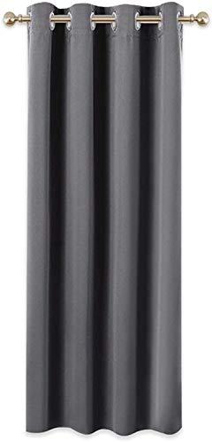 Home Trend Paris - Cortina opaca y aislante (1 panel de ventana con ojales, 140 x 260 cm), color gris oscuro
