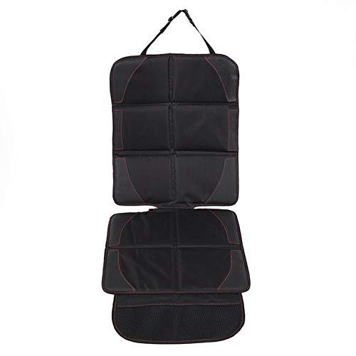 Protector de asiento de coche con acolchado más grueso, 48 x 18 pulgadas (mejor cobertura disponible), duradero, impermeable, esquinas reforzadas de piel de PVC y bolsillos grandes para un almacenamiento práctico