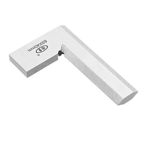 Precision Machinist Square EngineerSquare 90 Degree Right Angle Ruler Ground Steel Hardened with Knife Edge (63x40mm)
