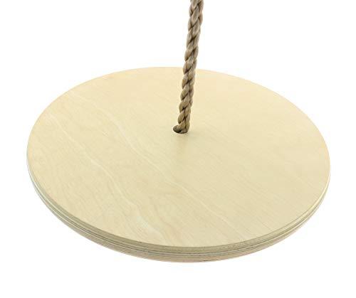 Tellerschaukel aus Holz bis 100kg Affenschaukel Schaukelsitz mit 30cm Durchmesser für Schaukeln, Spielturm, Klettertürme