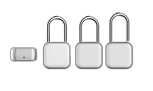 Smart Small Lock hangslot Bluetooth hangslot fietsslot kabinet wachtwoord ontgrendelen Lichtgrijs