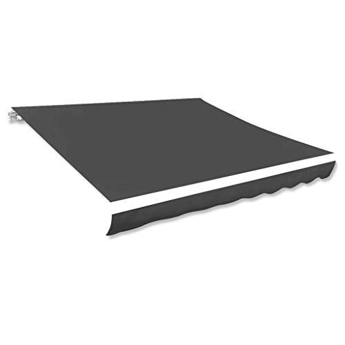 vidaXL Markisenstoff Sonnenschutz Markisentuch Anthrazit 300×250 cm Segeltuch