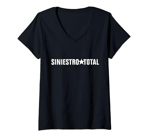 Mujer Siniestro_Total Band Rock España Camiseta Cuello V