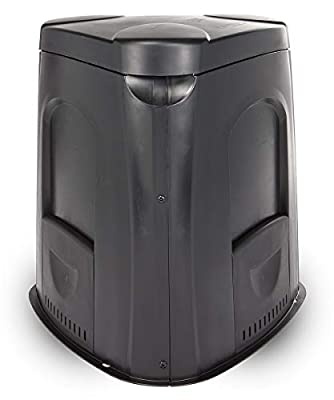 Tumbleweed 240 L Outdoor Home Backyard Vegetable Garden Above Ground Compost Recycle Bin Container with Lid