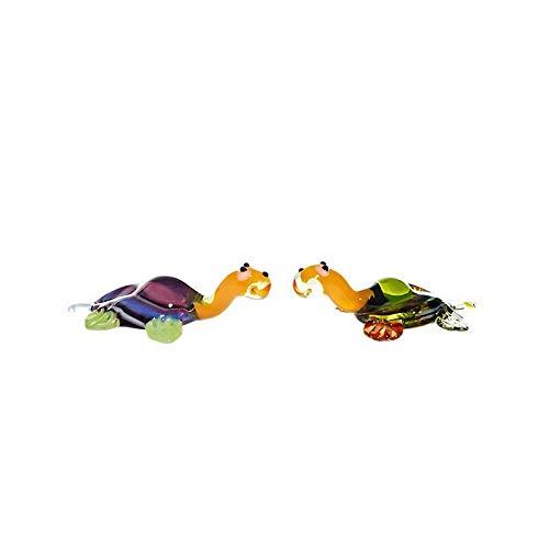 CRISTALICA Schildkröte Mini Plus (4-5cm) Glasfigur Glastier zum Sammeln für die Vitrine Glaskunst Miniatur Zoo