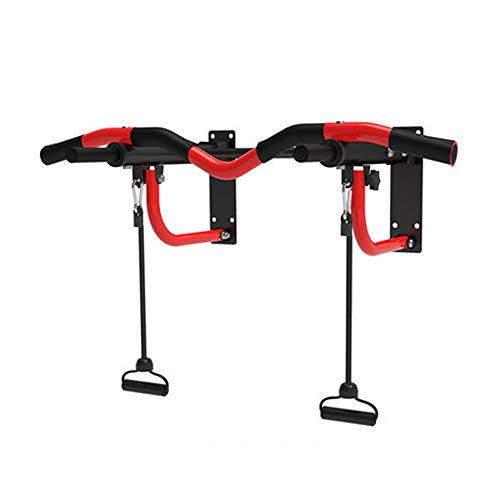 Klimmzugstangen HUAHUA Wandmontage, Bewegliche Faltbare Fitness Pull-up-Bar, Geeignet for Home Gym Krafttraining, Tresor Last 150kg (Color : Red)