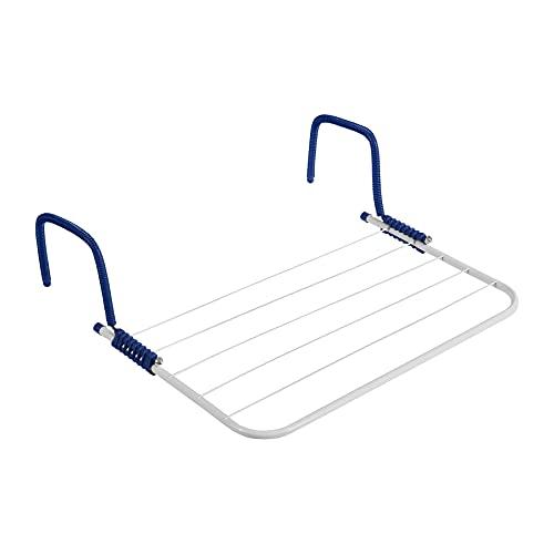 Wäschetrockner für Balkon, Heizung & Camping - Wäscheständer für Balkongeländer & Heizkörper - 50x33 cm - Hängetrockner klappbar Balkonwäschetrockner