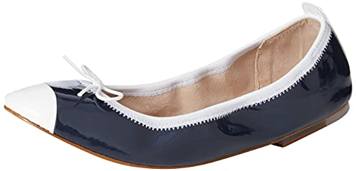 Bloch Women's Luxury Ballet Flat, Navy/WHT, 4 UK