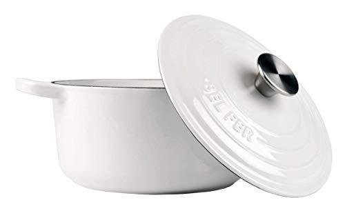 White Enameled Cast Iron (Dutch Oven)