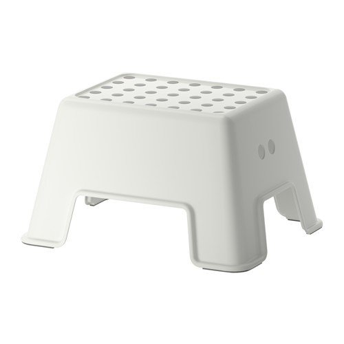 IKEA BOLMEN - Taburete escalon antideslizante, color blanco