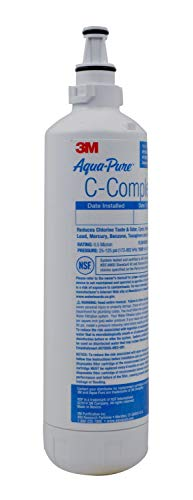 3M Aqua-Pure Under Sink Dedicated Faucet Replacement Water Filter Cartridge AP Easy C-Complete, 5618044