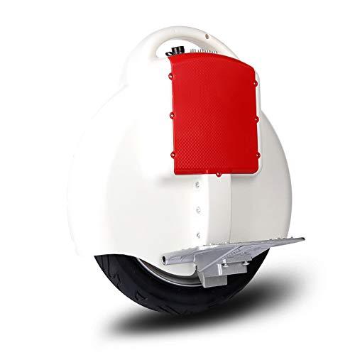 MUXIN Monociclo eléctrico, Hover Scooter Board De 14 Pulgadas,Patinete Eléctrico Scooter De Auto-Equilibrio,Dual Motor-Equilibrio Automático De Patinete Eléctrico para Niños Y Adultos,Blanco
