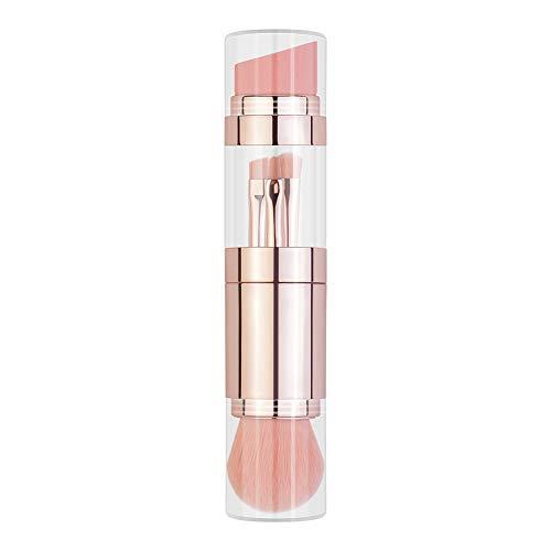 Gychee Make-up Pinsel 5 in 1 einziehbares Set, Foundation Brush, Augenbrauenpinsel, Lippenpinsel,...