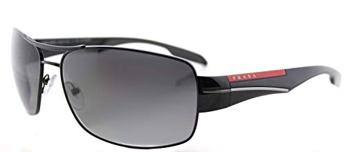 Prada Linea Rossa Mens PS 53NS Sunglasses Black/Polar Grey Gradient 65mm