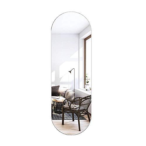 Wall mirror Espejo de Cuerpo Entero sin Marco Ovalado de Alta definición Espejo de Cuerpo Entero montado en la Pared Espejo Decorativo a Prueba de explosiones para el hogar Espejo Decorativo