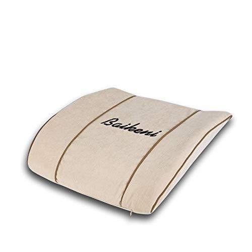 Joycaling Almohada lumbar de apoyo lumbar, almohada de espuma viscoelástica, respaldo ortopédico para asiento de coche, oficina, silla de ordenador, corrección de postura (color : albaricoque)