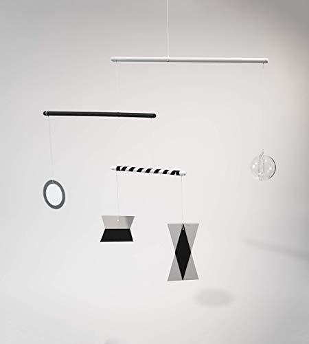 Montessori inspired mobile - Black & White mobile with plastic ball