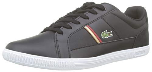 Lacoste Herren Europa 319 1 SMA Sneaker, Schwarz (Black/Red 1b5), 44 EU