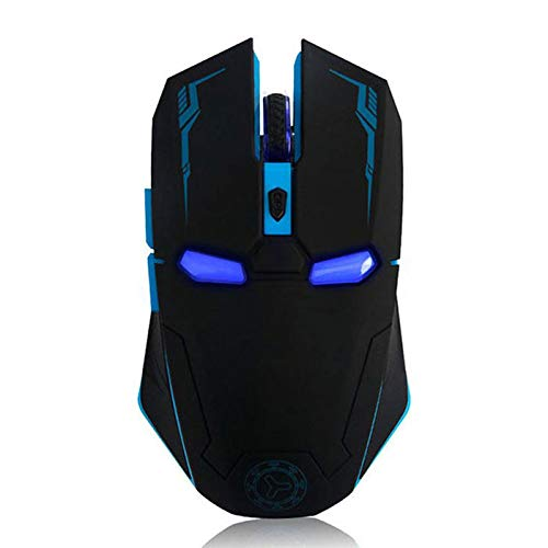 Wireless Gaming Mouse Iron Man Game Mice 2.4G with USB Nano Receiver for PC,Laptop,Computer, MacBook,Notebook,3 DPI Adjustment Levels-Black