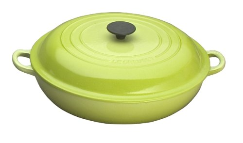 See Price For Le Creuset Enameled Cast Iron 5 Quart Buffet Casserole Kiwi Pamila Toothaker S9