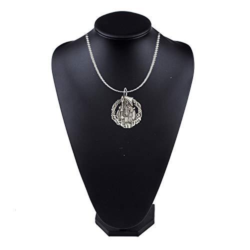 R225 Odin - Collar de cadena de eslabones chapados en plata de 40,6 cm (40,6 cm)