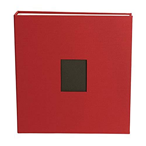 12 x 12-inch Cloth D-Ring Album by American Crafts | Cardinal, includes 5 page protectors