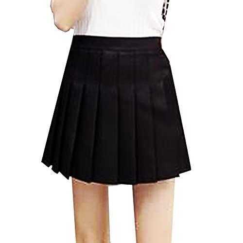 Falda Plisada jk a Cuadros de Gran tamaño, Falda Inferior Plisada de Cintura Alta para Estudiantes de Primavera y Verano para Mujer