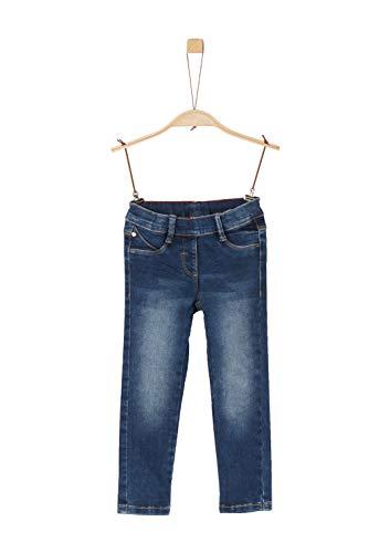 s.Oliver Junior Mädchen 54.899.71.0474 Slim Hose, Blue Stretched den, 104 (Herstellergröße: 104/SLIM)